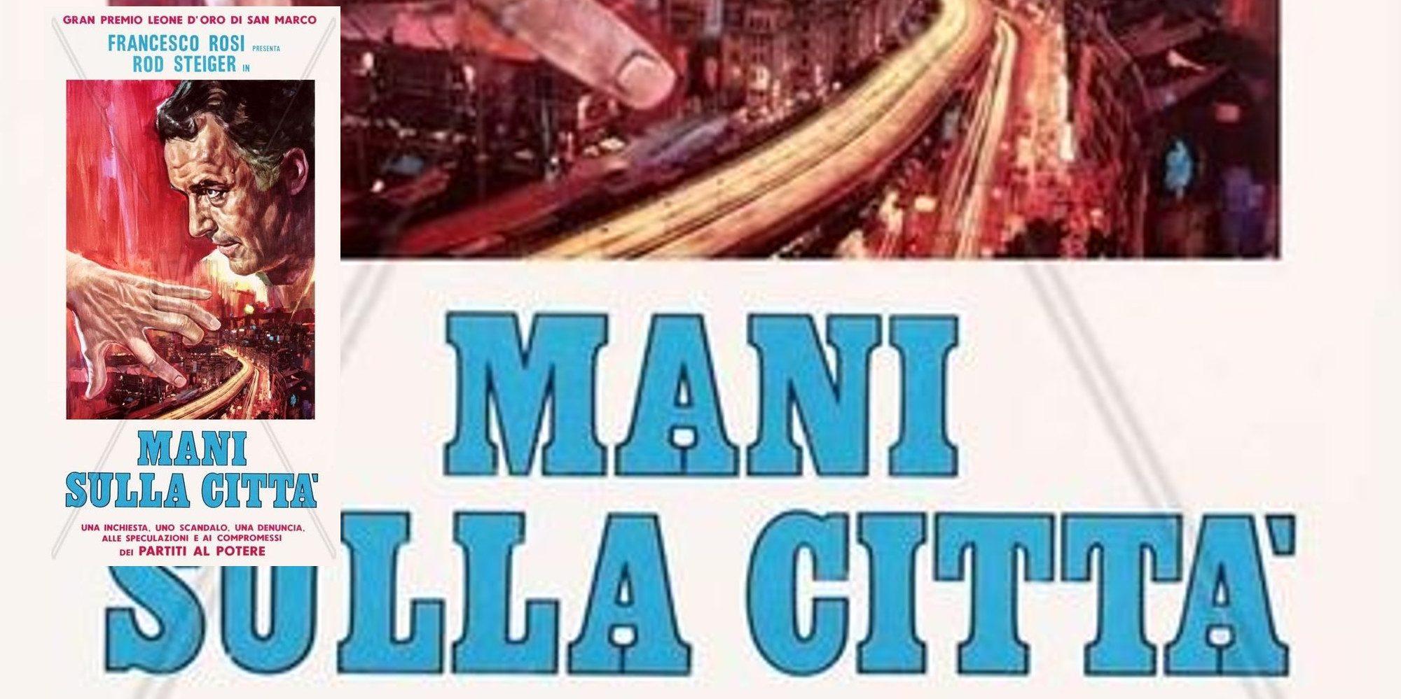 Hände über der Stadt Logo