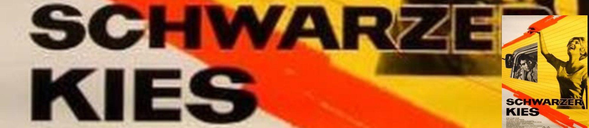 Schwarzer Kies Banner